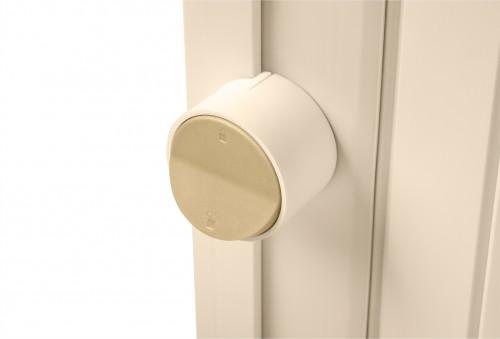 Porta Sanfonada Easy Lock Bege 60cm